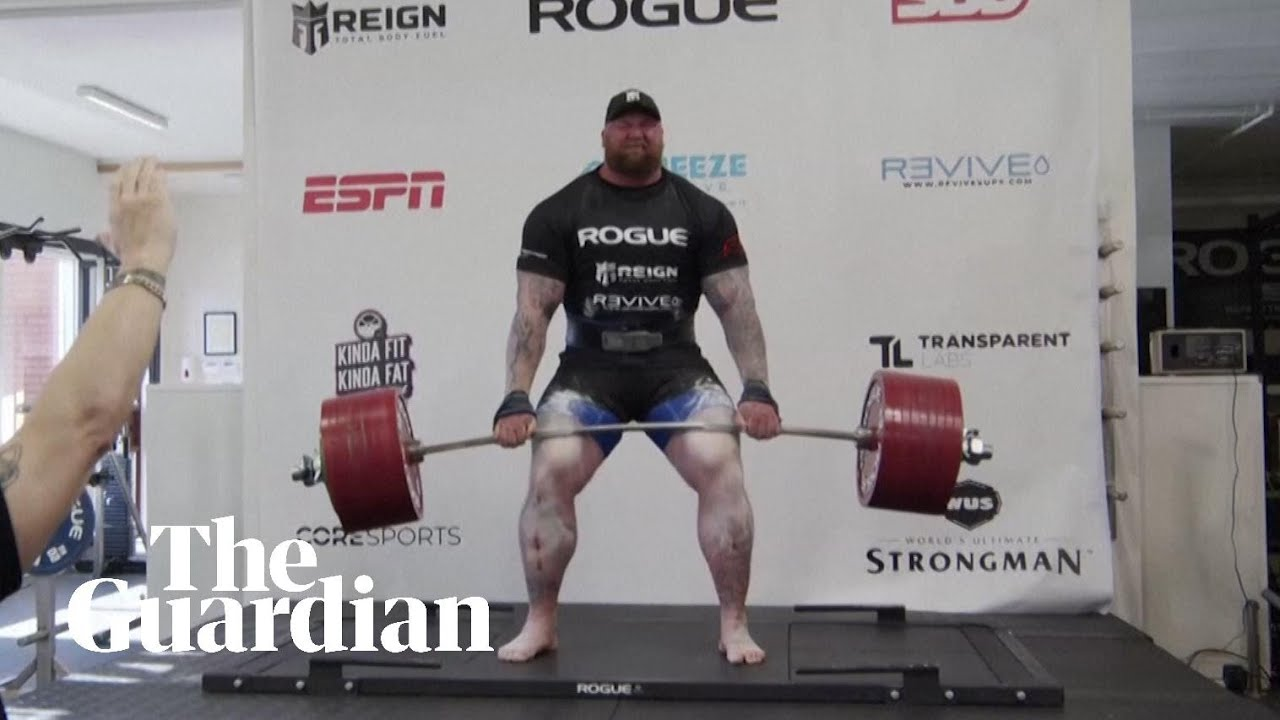 Game of Thrones actor Hafthor Bjornsson sets deadlift world record