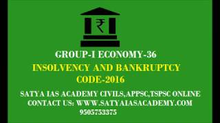GROUP-I ECONOMY-36(INSOLVENCY AND BANKRUPTCY CODE-2016)