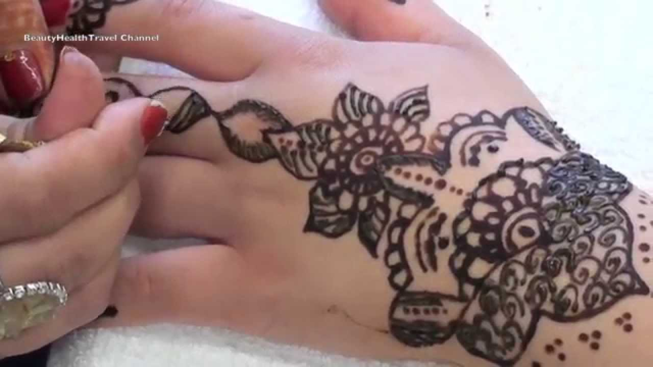 Henna Tattoo Alternating Natural And Black Henna  YouTube
