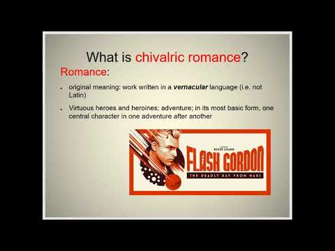 340 Chivalric Romance part 1 of 3