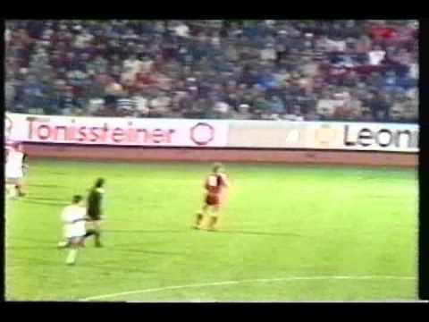 1982 December 8 Kaiserslautern West Germany 4 Sevilla Spain 0 UEFA Cup