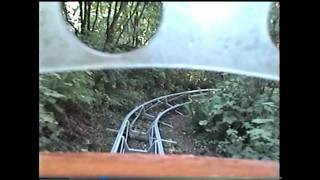 Ice Mountain Bobsled Roller Coaster POV Enchanted Forest Turner Oregon