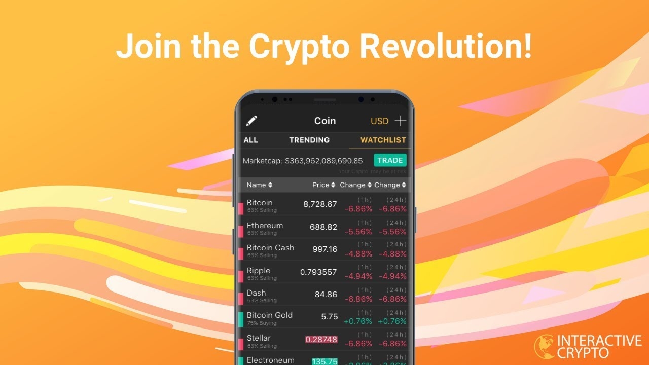 App to watch cryptocurrency