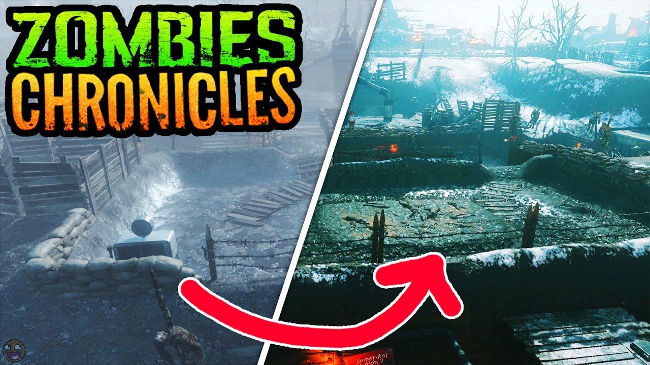 BO3 ZOMBIES CHRONICLES ORIGINS GAMEPLAY COMPARISON TRAILER (Black Ops 3  Zombies Chronicles Origins)