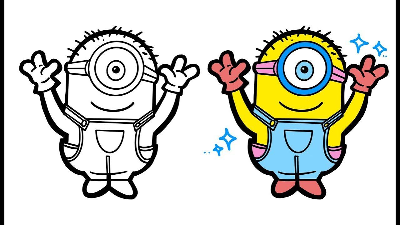 Menggambar Dan Mewarnai Minion L Mewarnai Minion Banana