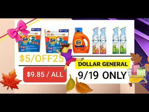 Dollar General - Couponing • $5off25 - September 19, 2020 • One Day ONLY