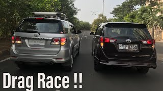 Toyota Fortuner vs Innova Crysta