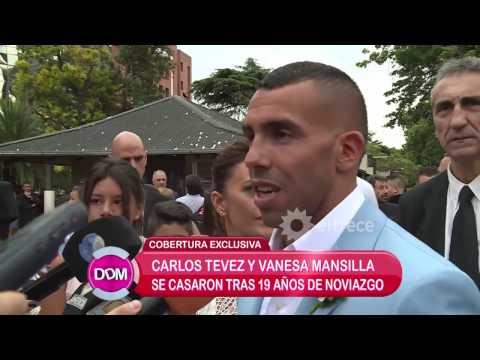 La millonaria boda de Carlos Tevez y Vanesa Mansilla