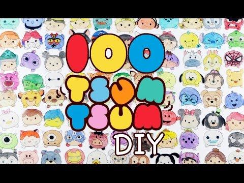 How to DIY 100 TSUM TSUM Shrink Plastic Tutorial | Oddly Satisfying