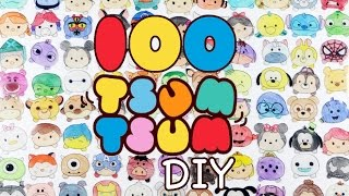 How to DIY 100 TSUM TSUM Shrink Plastic Tutorial | Oddly Satisfying