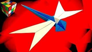 как сделать СТРЕКОЗУ из бумаги. Стрекоза оригами своими руками. DIY поделки из бумаги