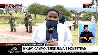 State Capture Inquiry | More supporters join MKMVA outside Zuma's homestead in Nkandla