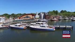 Hinckley Rendezvous at Mystic Seaport Aerial