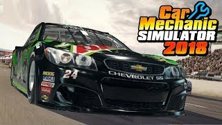 Junkyard Rebuild - NASCAR Chevrolet SS Race Car MOD - Car Mechanic Simulator 2018 Gameplay