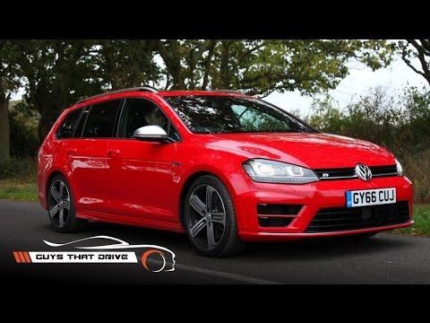 2017 VW Golf R Estate first drive, walk around, exhaust sound | GTD Carmmunity