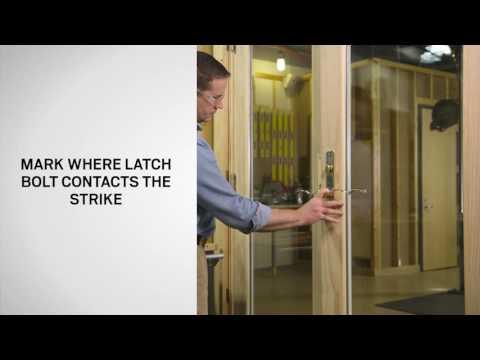 Blocker Adjustment on Andersen® Frenchwood® Hinged Patio Doors