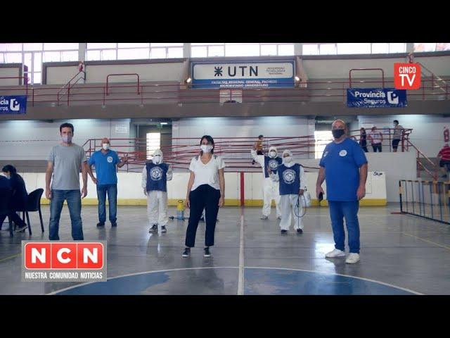 CINCO TV - La CGT Zona Norte despliega su operativo de Sanitización en toda la Zona