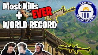 NEW FORTNITE - WORLD RECORDS!!! | NickMercs, JimmyBear + NinjasHyper | [GWR]