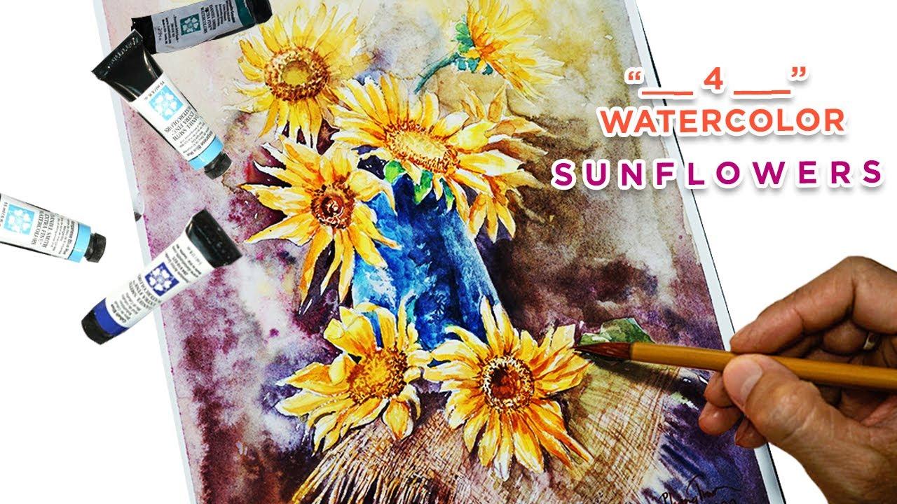 #4 Drawing tutorial still life of sunflowers | Hướng dẫn vẽ tĩnh vật hoa hướng dương