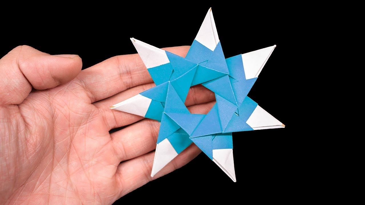 How to make a Paper Ninja Star (Shuriken) very easy - Origami ... | 720x1280