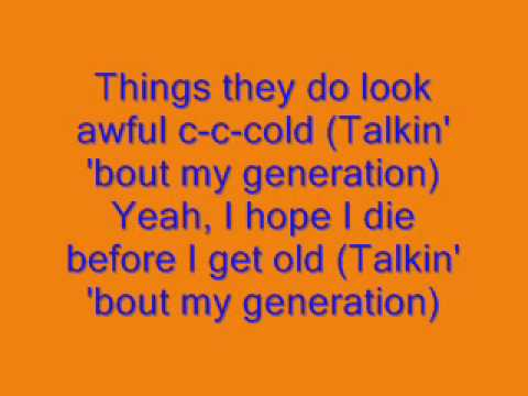 My Generation (with Lyrics)