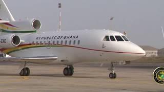 President Akufo-Addo arrives in Dakar - Tour of ECOWAS Region