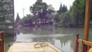Boat ride in watertown Suzhou in China