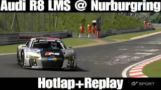 GT Sport Beta Gameplay Audi R8 LMS Nurburgring Nordschleife Hotlap + Replay