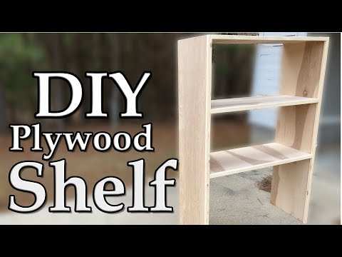 DIY Plywood Shelves using Pocket Holes
