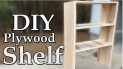 DIY Plywood Shelves using Pocket Holes
