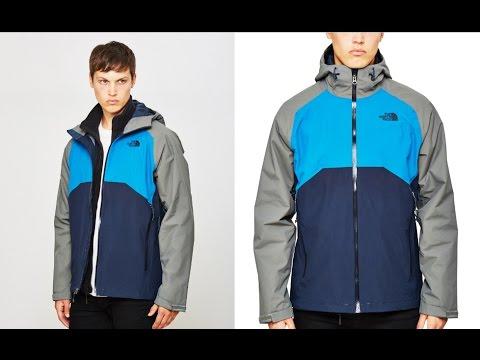 Qualitätsprodukte neues Design Kostenloser Versand The North Face Stratos Jacket Blue Grey