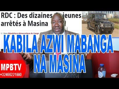 MPBTV Actualité Compliquée 18 Aout -Une pluie de pierres jetée sur Kabila à Masina par des Jeunes