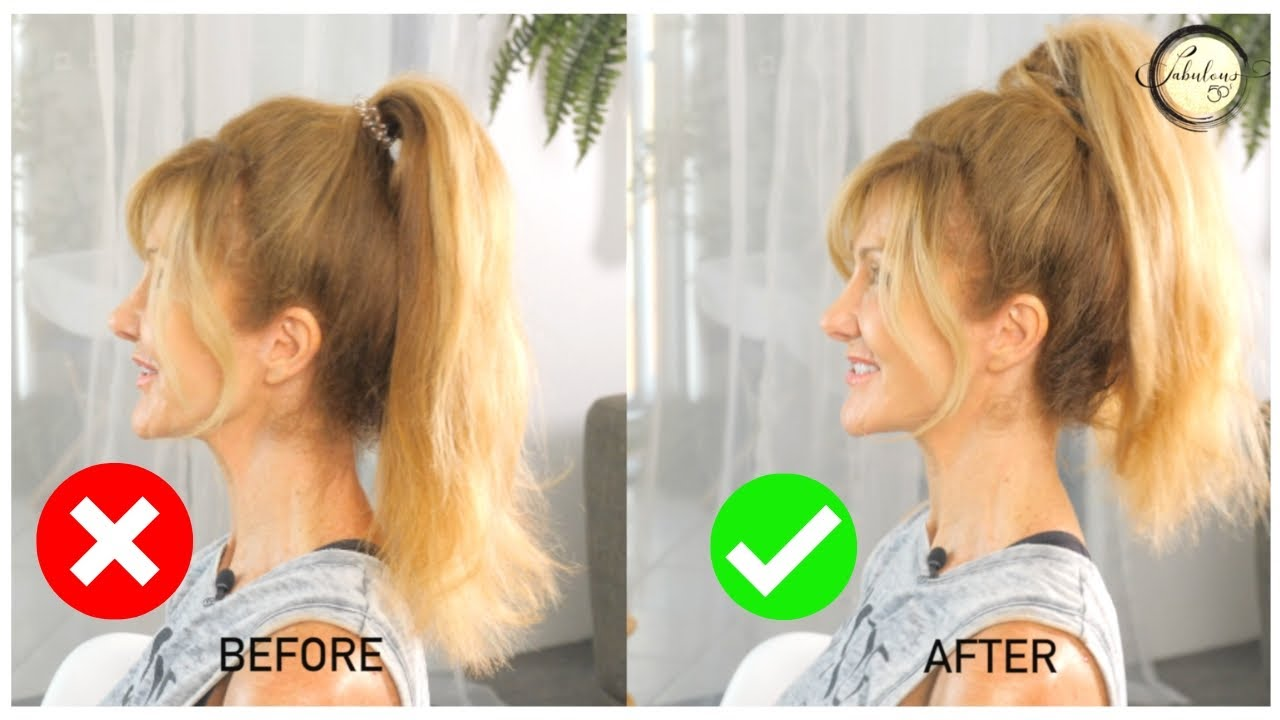 Seriously EASY Ponytail Trick To Look Younger  Tip Tuesday