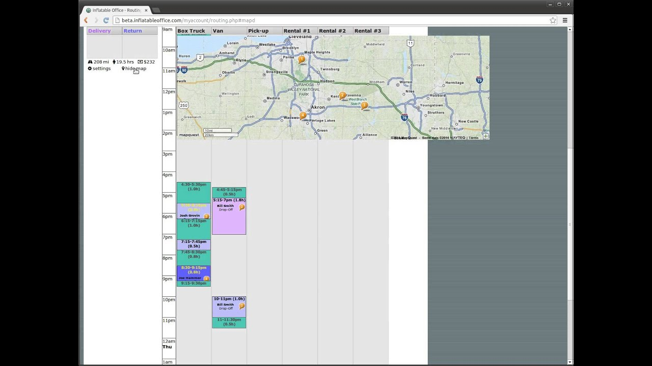 Routing and Delivery Scheduling Software by Inflatable Office ...