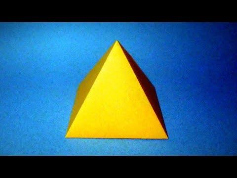 Cara Membuat Piramida Dari Kertas. Origami Piramida Dari Kertas.