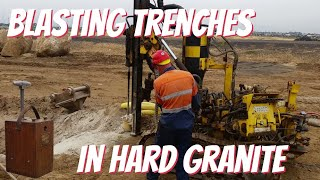 Blasting drainage trenches in Granite, Part 2