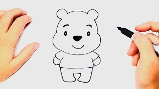 How to draw Winnie The Pooh | Winnie The Pooh Easy Draw Tutorial