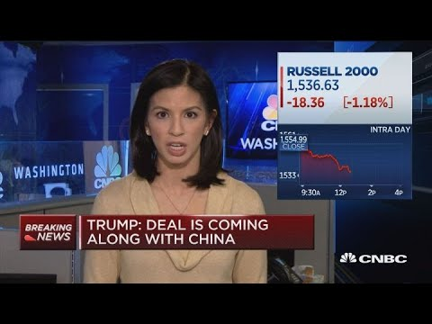 President Trump: Trade deal is coming along with China
