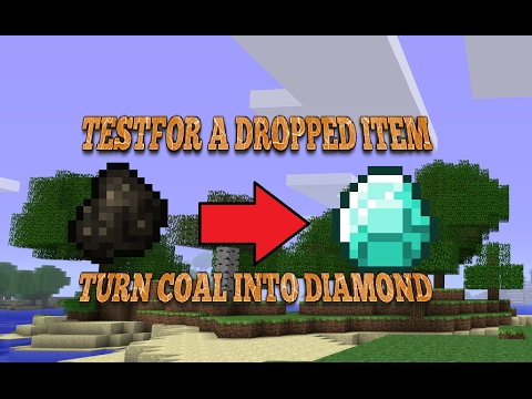 [1.11/1.11.2] Minecraft | How To Testfor a Dropped Item
