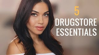 My 5 Drugstore Essentials | Top Drugstore Makeup Must-Haves | Eman