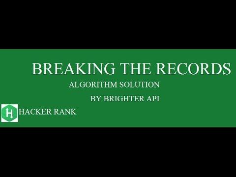 Breaking the Records Hackerrank Algorithm Solution - Java