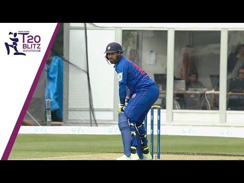DOUBLE SIX - Babar Hyat smashes consecutive maximums | Hong Kong T20 Blitz 2018