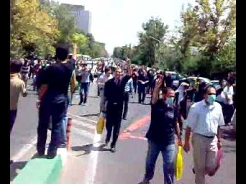 New rally in Tehran and an observer helicopter on Hejab St. Friday 07/17