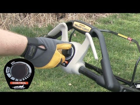 HRX217 K6 VKA Lawn Mower Operation