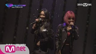 [Korean Reality Show UNPRETTY RAPSTAR2] Teamwork Battle Hyolin&Kitti B l Kpop Rap Audition  EP.08