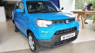 New Maruti Suzuki S Presso BS6 Pearl Starry Blue Exterior & Interior in 4K 60FPS