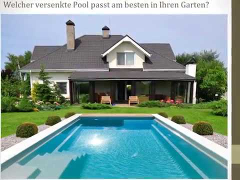 pool in den boden einlassen youtube. Black Bedroom Furniture Sets. Home Design Ideas
