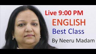 9:00 PM SSC CGL English by Neeru Madam I Previous year paper I New pattern