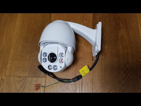 Unboxing and setup of a A-ZONE PTZ Dome Camera 10x Optical Zoom, 2.0MP Waterproof