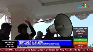 Demo Tuntut Jalan Aspal, Warga di Bombana Saling Dorong Dengan Aparat Kepolisian